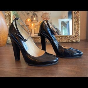Jimmy Choo Black Heels - Thick Heel